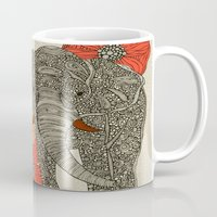 peacock Mugs featuring The Elephant by Valentina Harper