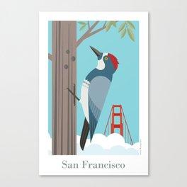San Francisco: Acorn Woodpecker Canvas Print