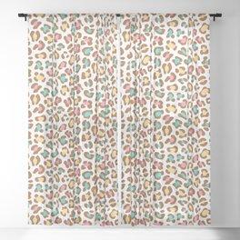 Leopard Ice Cream - White Sheer Curtain