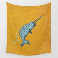 narwhal Wall Tapestries featuring Narwhal by Tamm + Kit