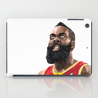 nba iPad Cases featuring James Harden by Roland Banrevi