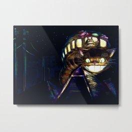 Cat Bus is In Your Town! Miyazaki Tribute Digital Fan Painting Metal Print