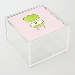Apple Halves Acrylic Box