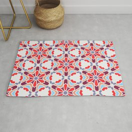 Geometric Hexagonal Pattern 01 Rug