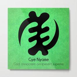 Gye Nyame - Adinkra Art Poster Metal Print