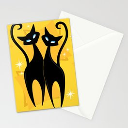Sunshine Spectacular Atomic Age Black Kitschy Cats Stationery Cards