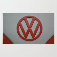 volkswagen Area & Throw Rugs featuring VOLKSWAGEN by OSSUMphotos