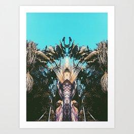 Retro Palm Tree Art Print