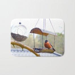 Eurasian bullfinch Bath Mat