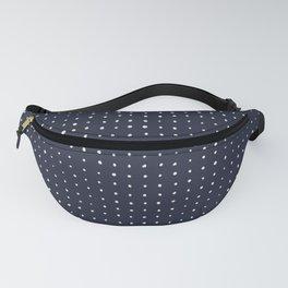 Light grey dots on dark blue Fanny Pack