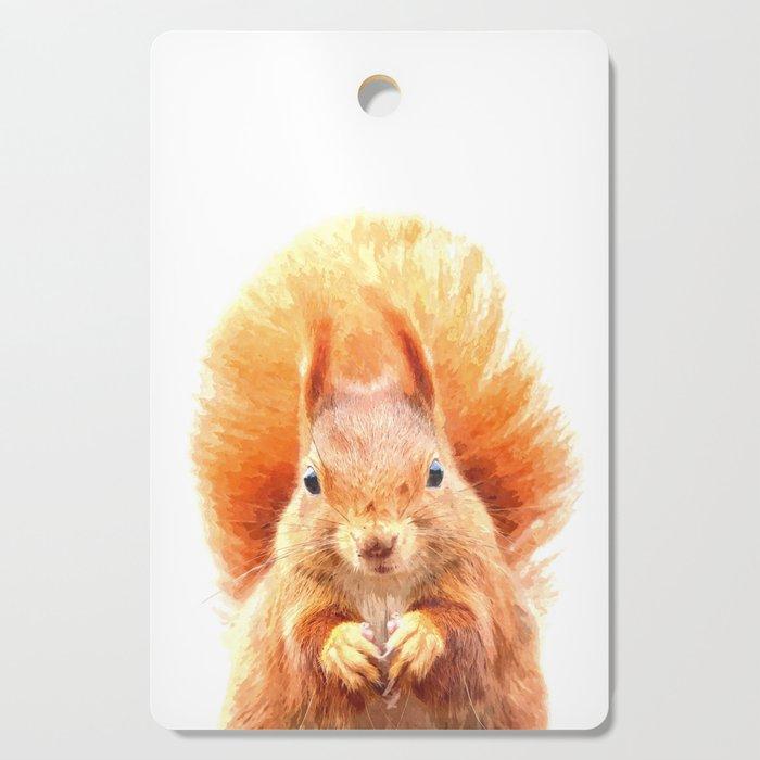 Squirrel Portrait Cutting Board
