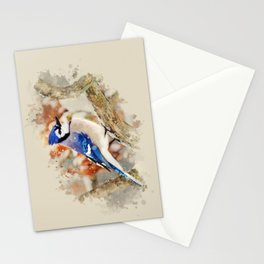 Watercolor Blue Jay Art Stationery Cards