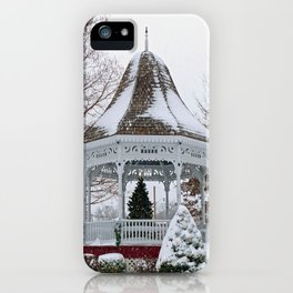 Courthouse Gazebo in the Snow iPhone Case