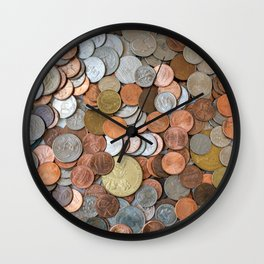 Coins Wall Clock