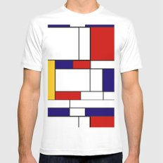 Mondrain X-LARGE White Mens Fitted Tee