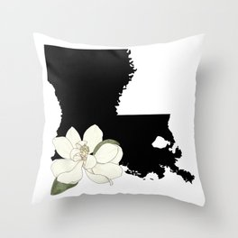 Louisiana Silhouette Throw Pillow