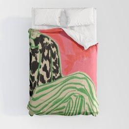 CALM WOMAN PORTRAIT Comforters