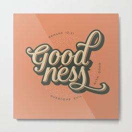 """Overcome Evil with Good"" Art Print Metal Print"