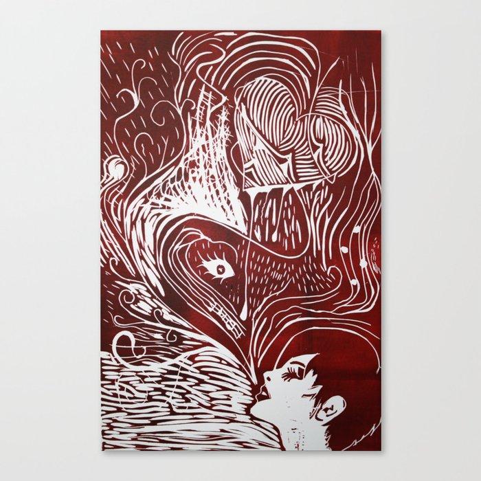 Corazón Canvas Print