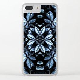 METALLIC LEAVES MANDALA Clear iPhone Case