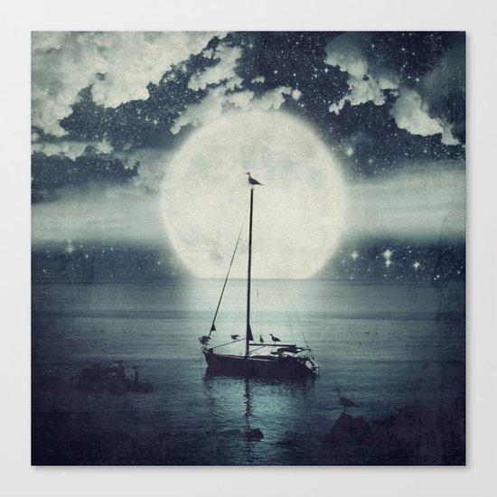A Journey Under A Starry Night Sky Canvas Print