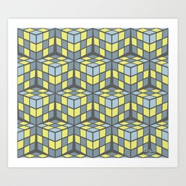 cascade - lemon Art Print