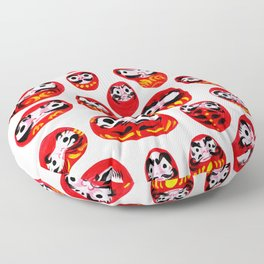 Japanese Daruma Characters Floor Pillow