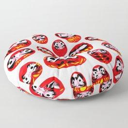 Japanese Daruma Characters Floor Pillow