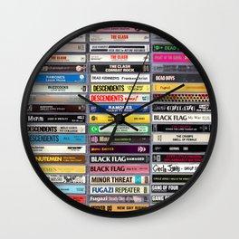 70's & 80's Punk Rock Hardcore Rock & Roll Cassettes Wall Clock