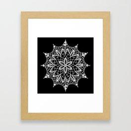 Cosmos Doily Framed Art Print