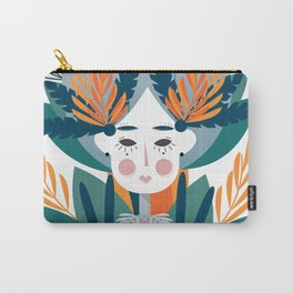 If forest was a girl. Abstraction Carry-All Pouch