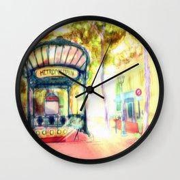 Métro Wall Clock