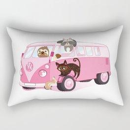 Happy pink bus Rectangular Pillow