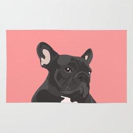 French Bulldog - Pink Rug