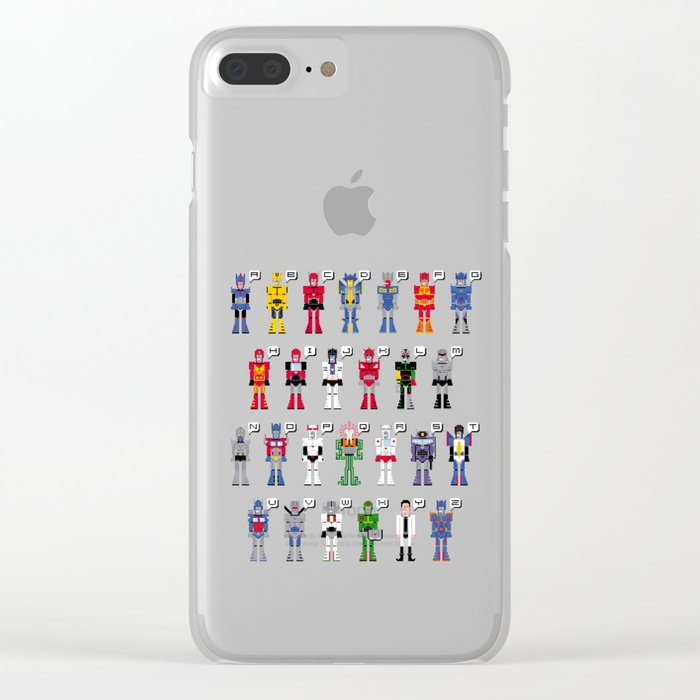 Transformers Alphabet Clear iPhone Case by pixelpower