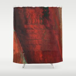 Red and Gold Shower Curtain