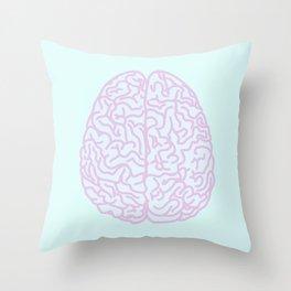 Pastel Brain Throw Pillow