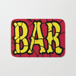 BAR AND SPIDERS VINTAGE SIGN Bath Mat