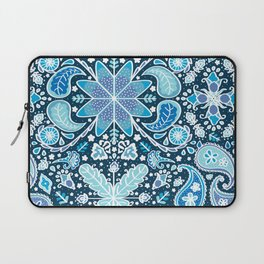 Pysanky Paisley Floral in Blue Laptop Sleeve