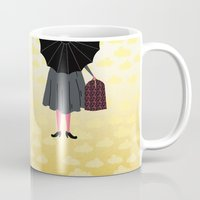 mary poppins Mugs featuring Mary Poppins by Prelude Posters