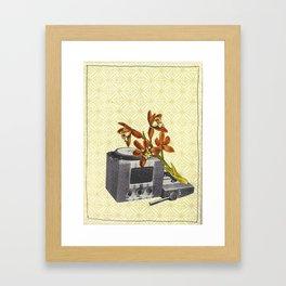 Vintage Image Collage Framed Art Print