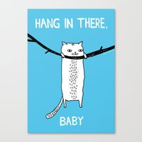 fat Canvas Prints featuring Hang in There, Baby by gemma correll