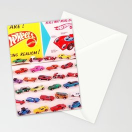 1970's Original Hot Wheels Redline Toy Department Store Display Poster Stationery Cards