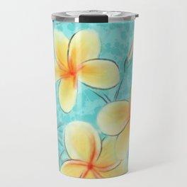 Tropical Turquoise Frangipani Travel Mug