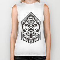 "sacred geometry Biker Tanks featuring N3O ""Sacred Geometry 1""  by GraffitiWorld"