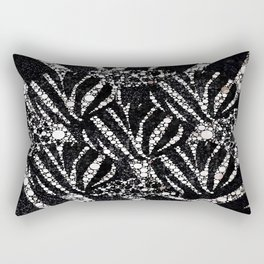Black&Silver Abstract Bling Pattern  Rectangular Pillow