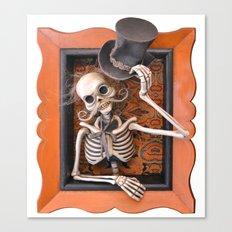 Rucus Studio Gentleman Skeleton Canvas Print