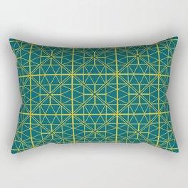 Emerald Green Triangles Pattern Rectangular Pillow
