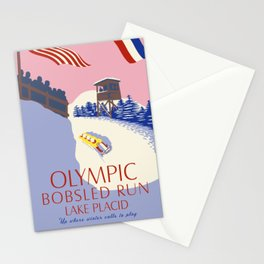 Lake Placid Olympic bobsled run Stationery Cards