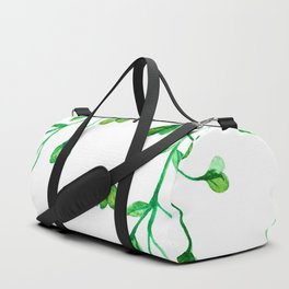 Green Clover Seamless Leafy Watercolour Pattern Duffle Bag